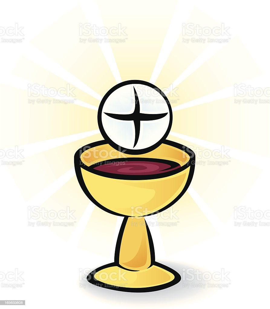 Holy Communion Bread And Wine stock vector art 165633606 ...