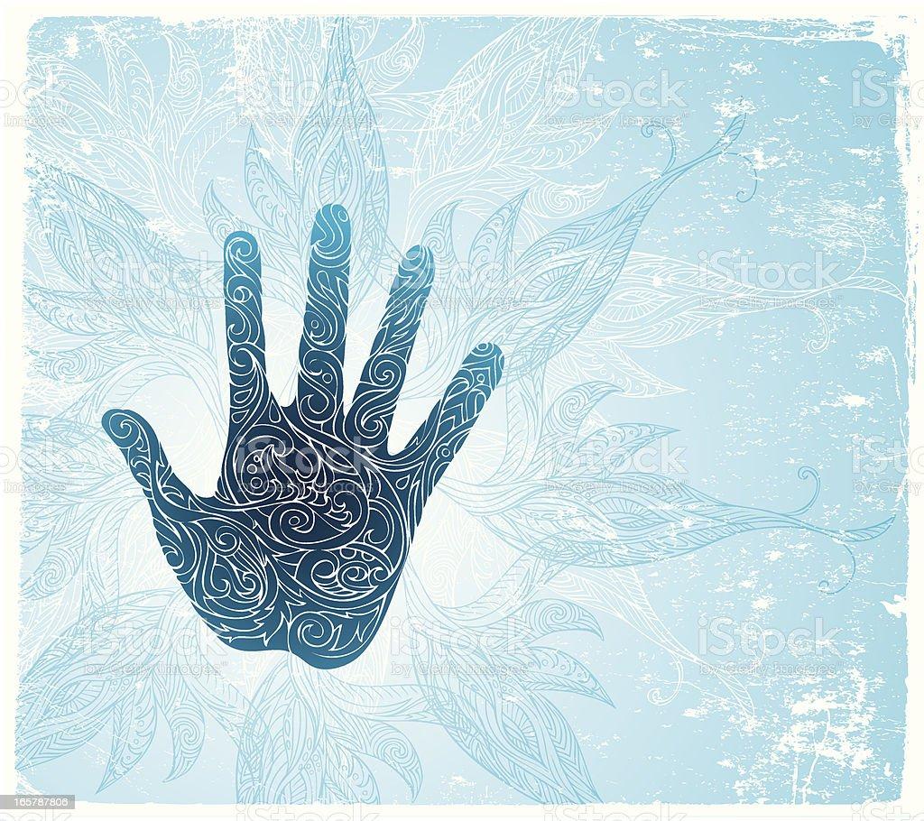 holy hand vector art illustration