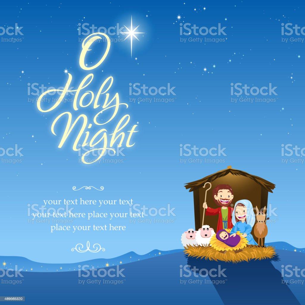 O holy night vector art illustration
