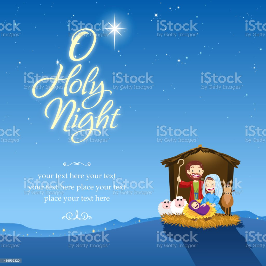 O holy night vector art illustration