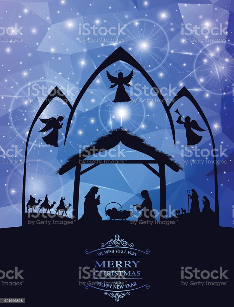 Holy Night vector art illustration