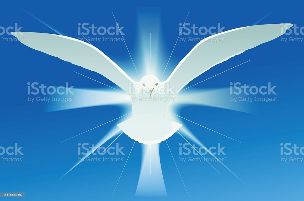 Holy spirit symbol vector art illustration