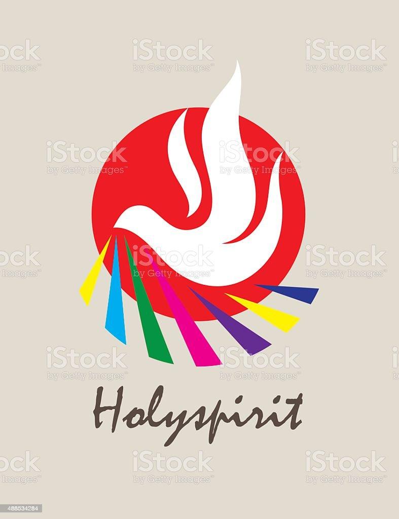 Holyspirit Icon vector art illustration