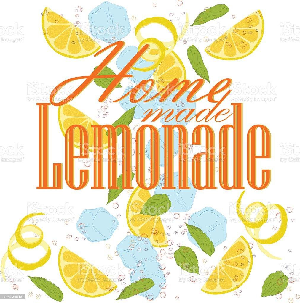 homе lemonade vector art illustration