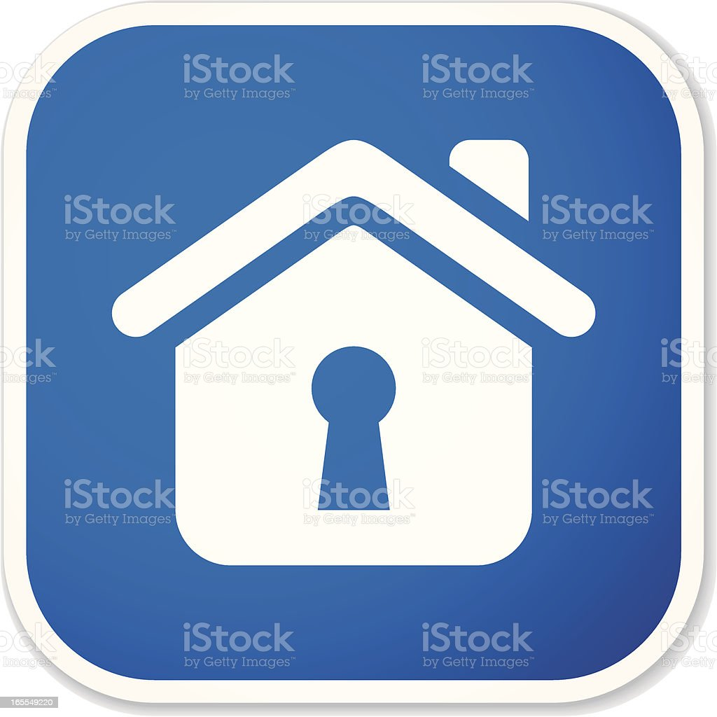home access sq sticker royalty-free stock vector art
