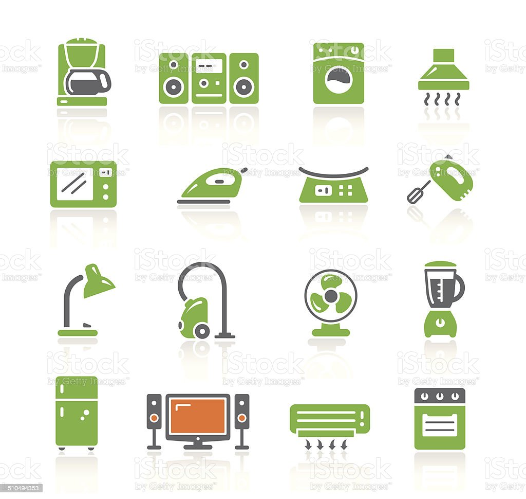 Home Appliances Icons   Spring Series vector art illustration