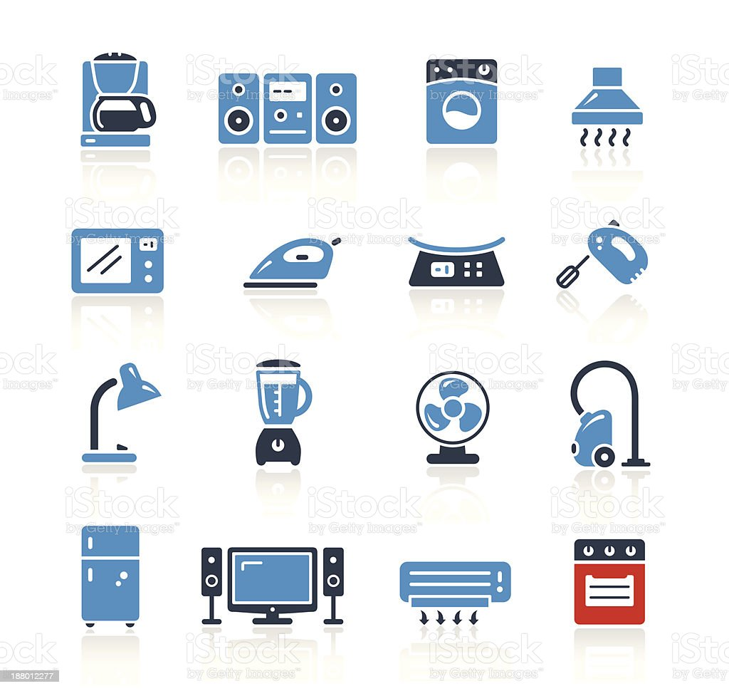 Home Appliances Icons Two Color   Pro Series vector art illustration