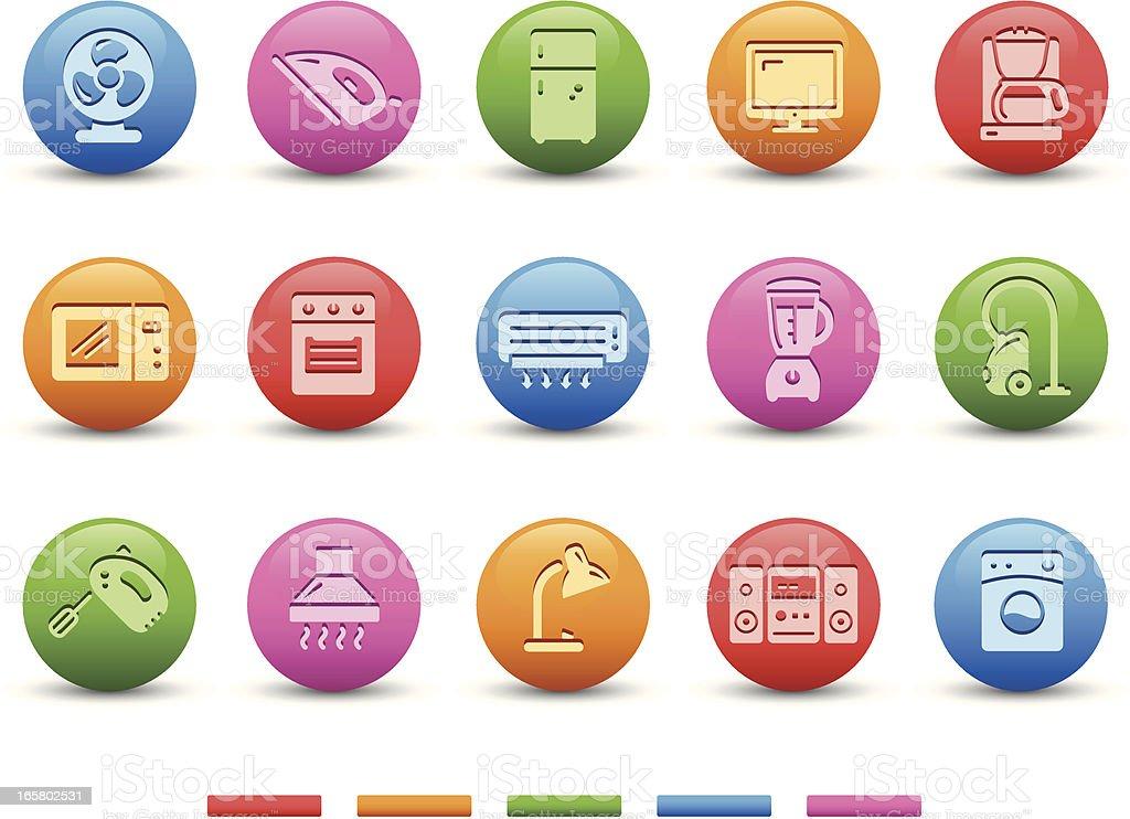 Home Appliances   Satin Series vector art illustration
