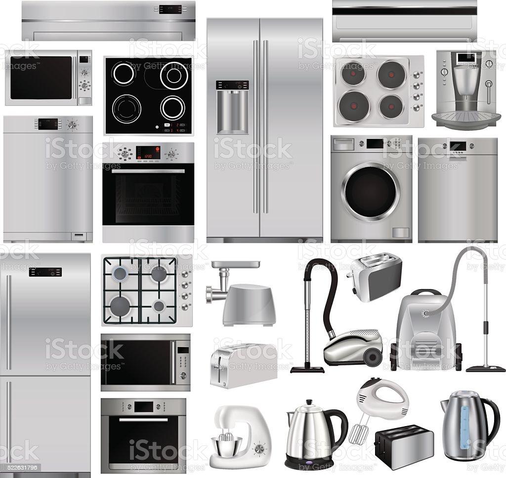 Kitchen Appliances On Credit Home Appliances Set Of Household Kitchen Technics Stock Vector Art