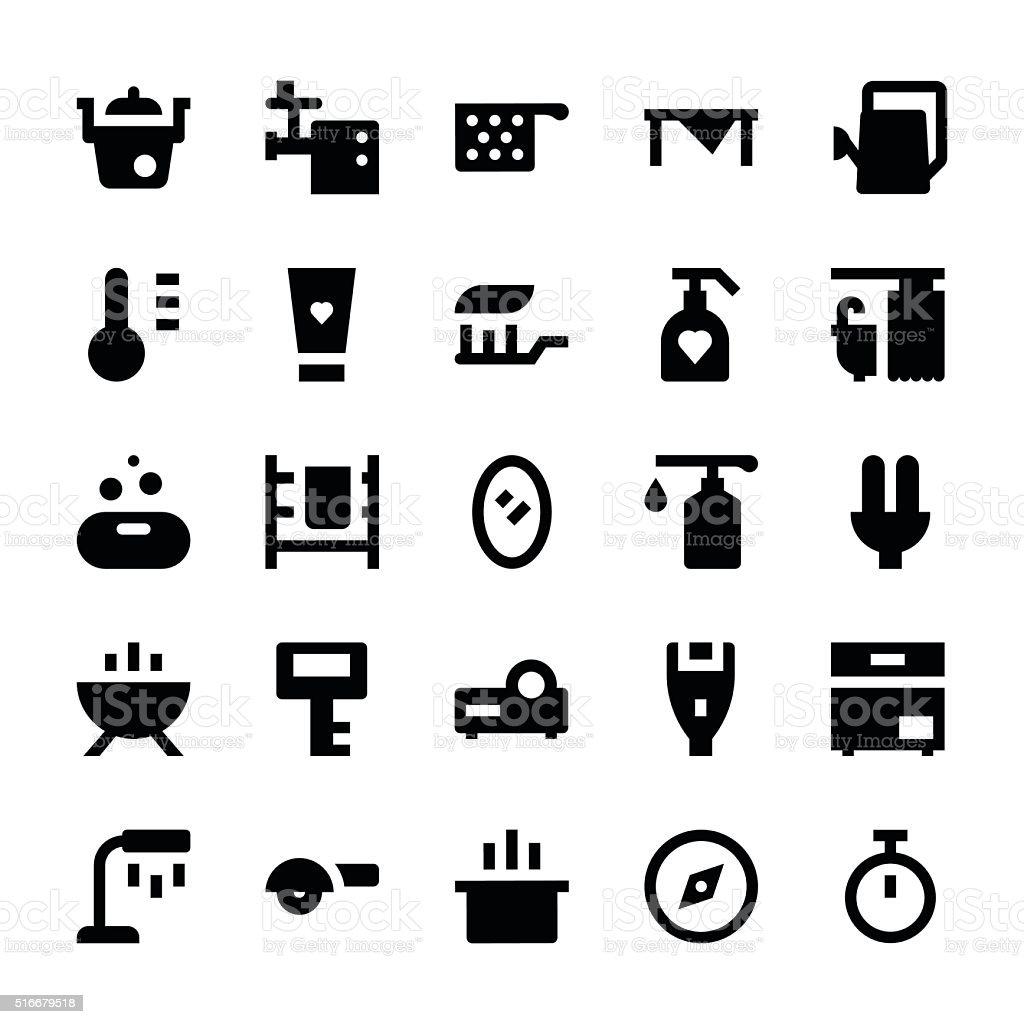 Home Appliances Vector Icons 10 vector art illustration