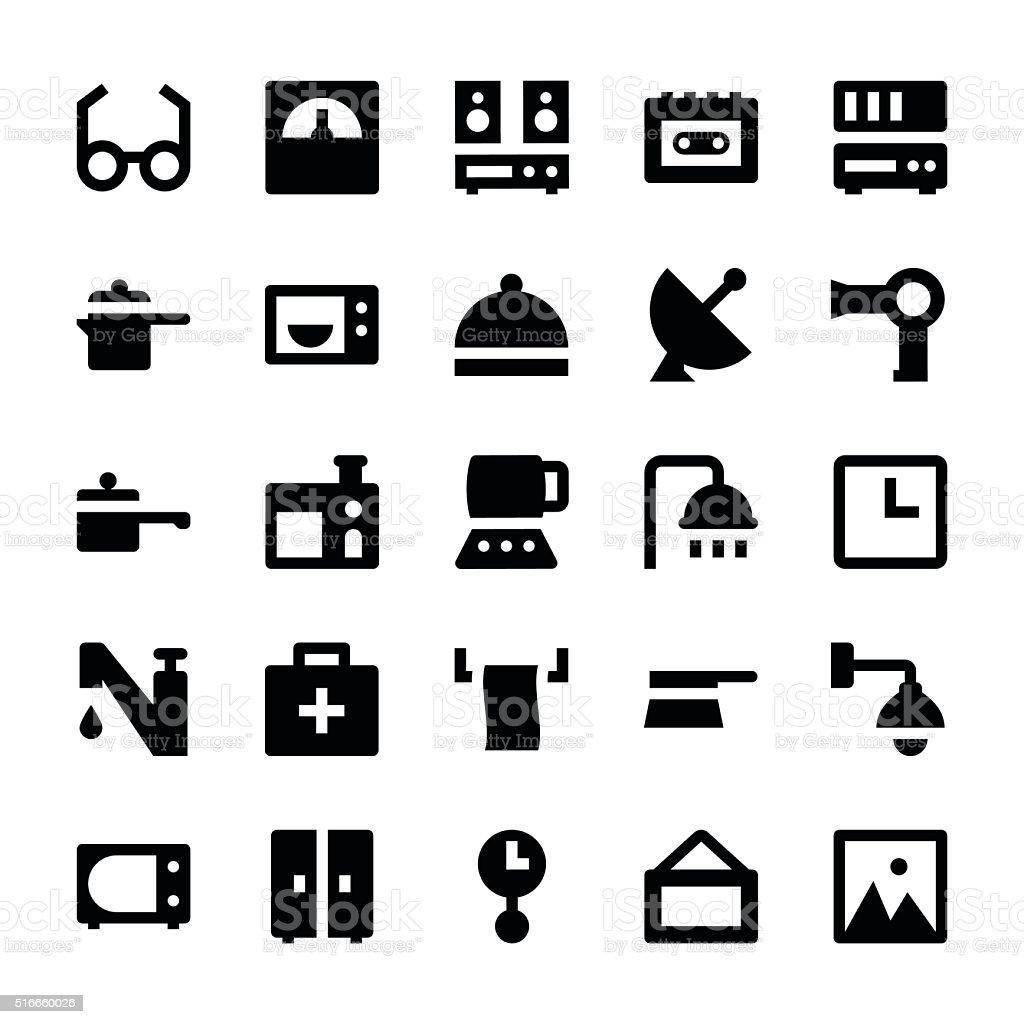 Home Appliances Vector Icons 4 vector art illustration
