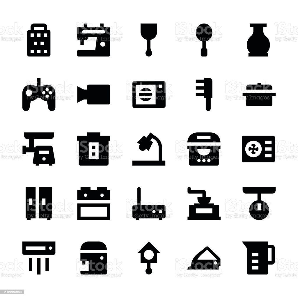 Home Appliances Vector Icons 7 vector art illustration