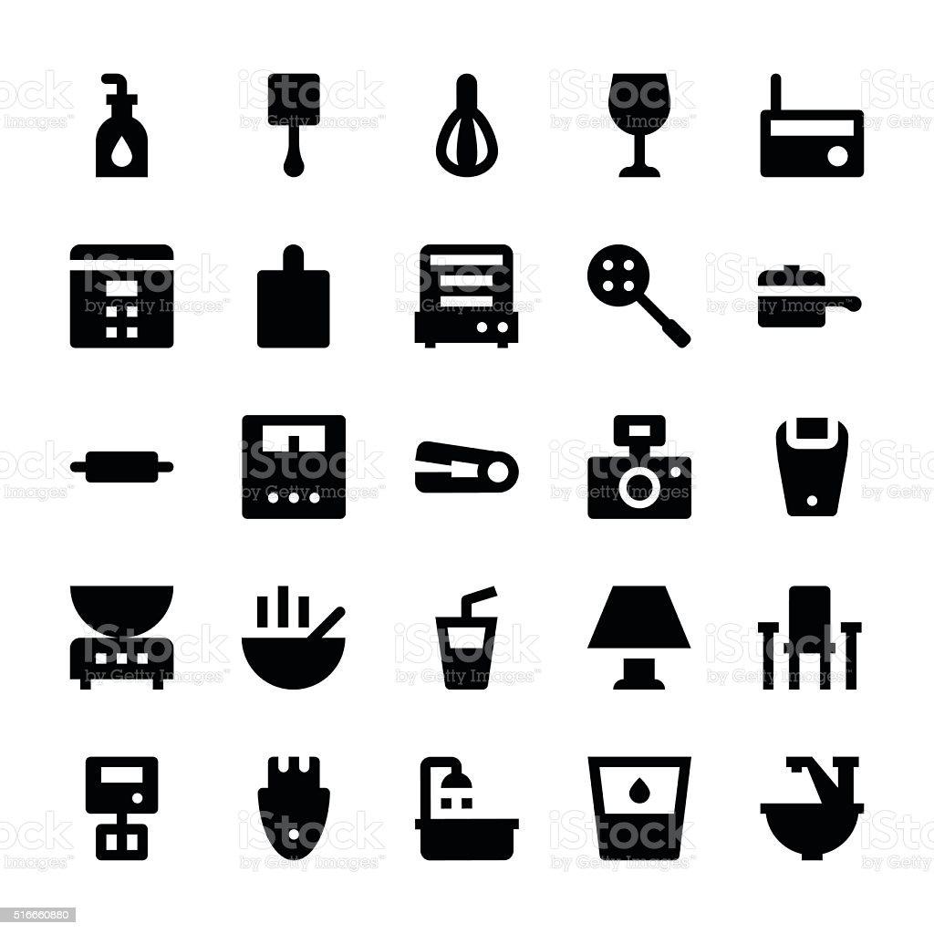 Home Appliances Vector Icons 8 vector art illustration