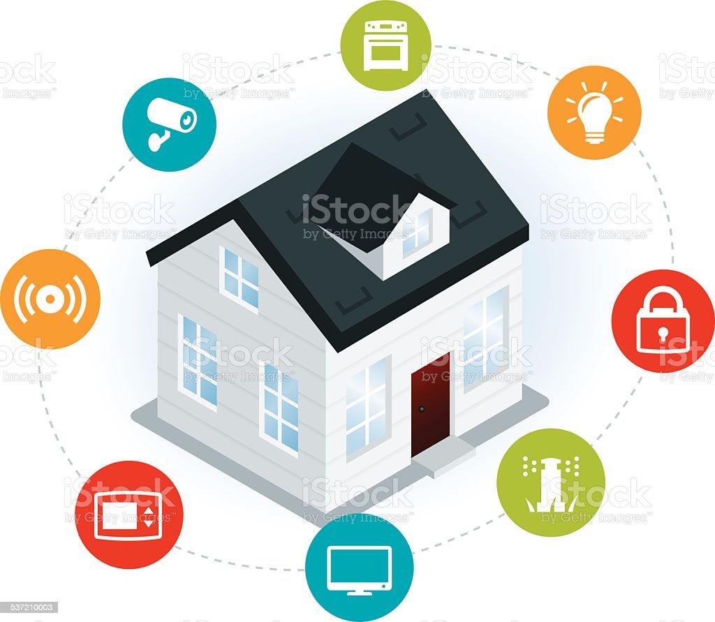 Home Automation Illustration vector art illustration