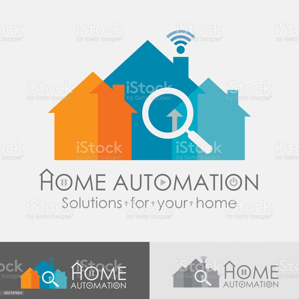 Home Automation Logo vector art illustration