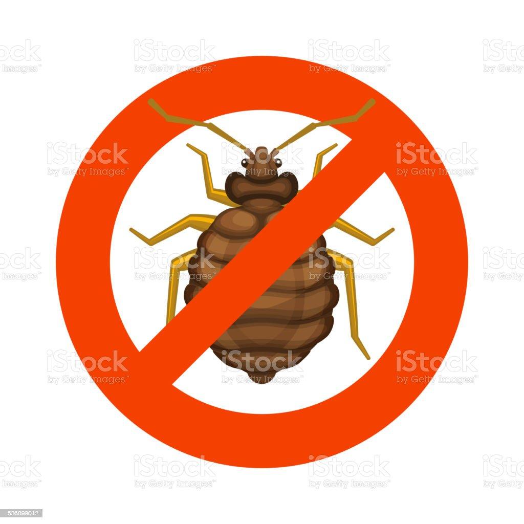 Home Bedbug Red Sign on White Background. Vector vector art illustration