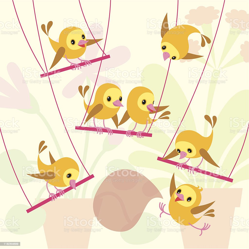 Home birdies. royalty-free stock vector art