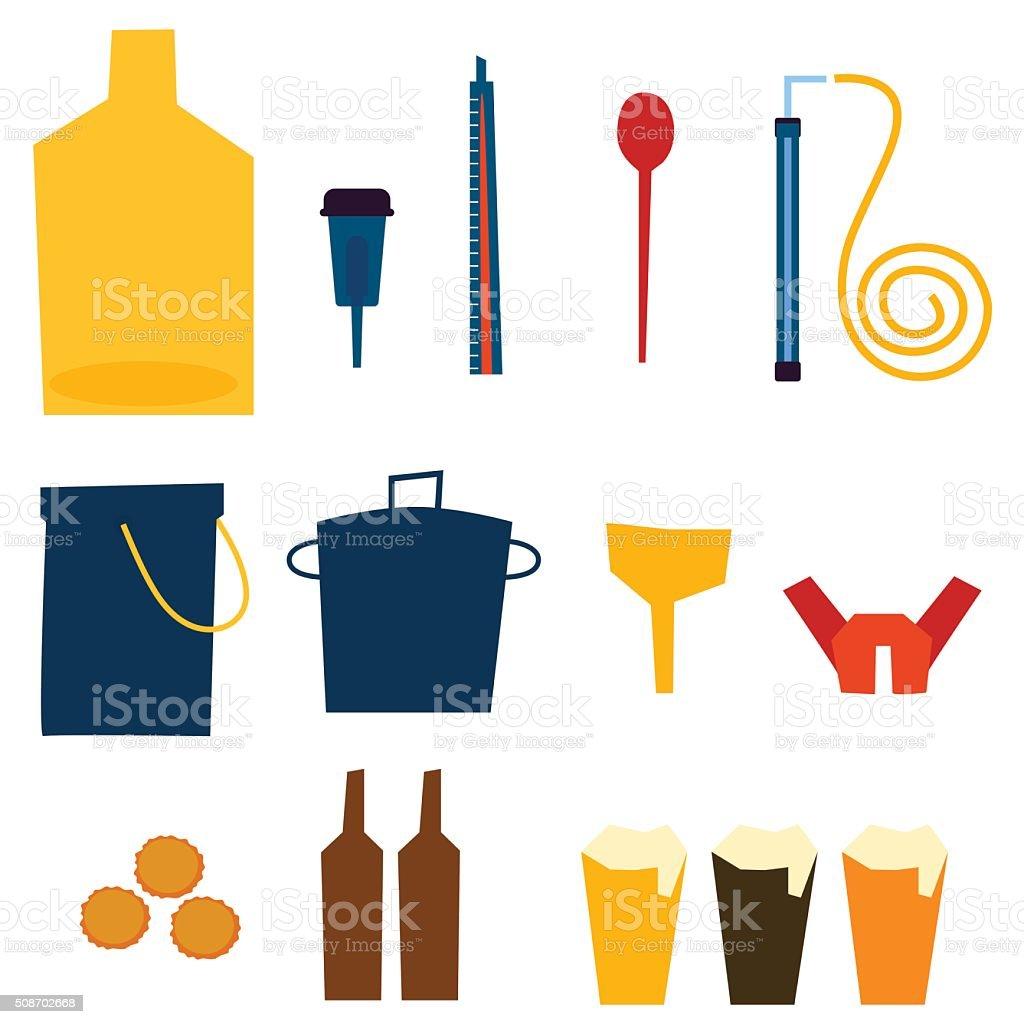 Home Brew Supplies vector illustration vector art illustration