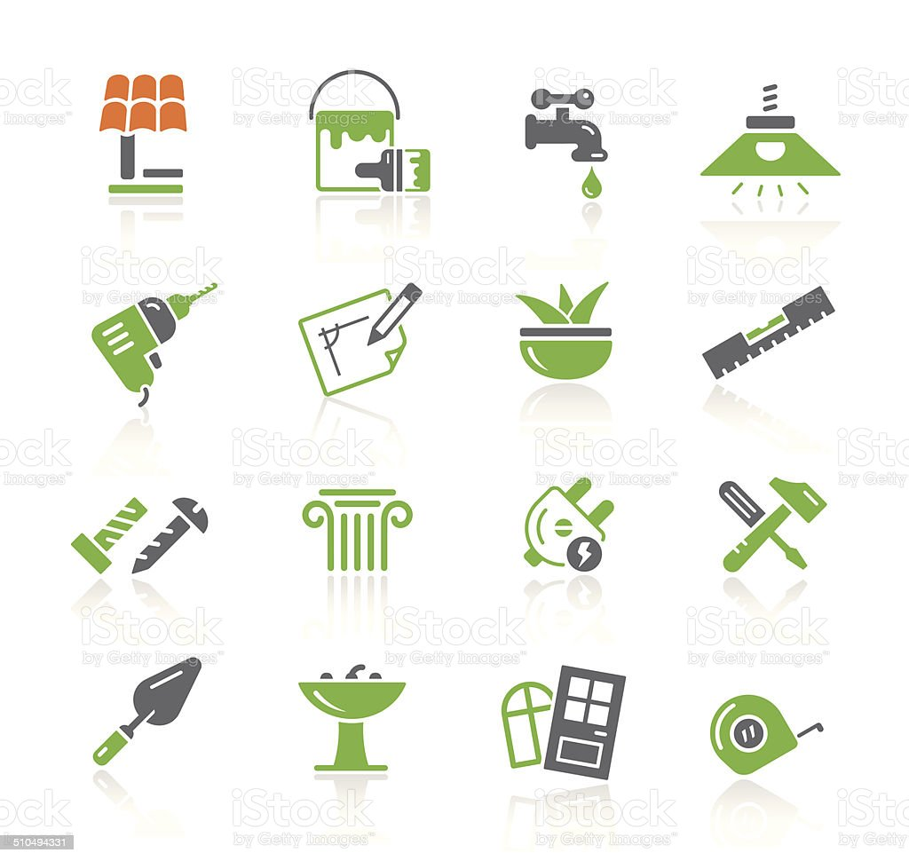 Home & Bricolage Icons   Spring Series vector art illustration