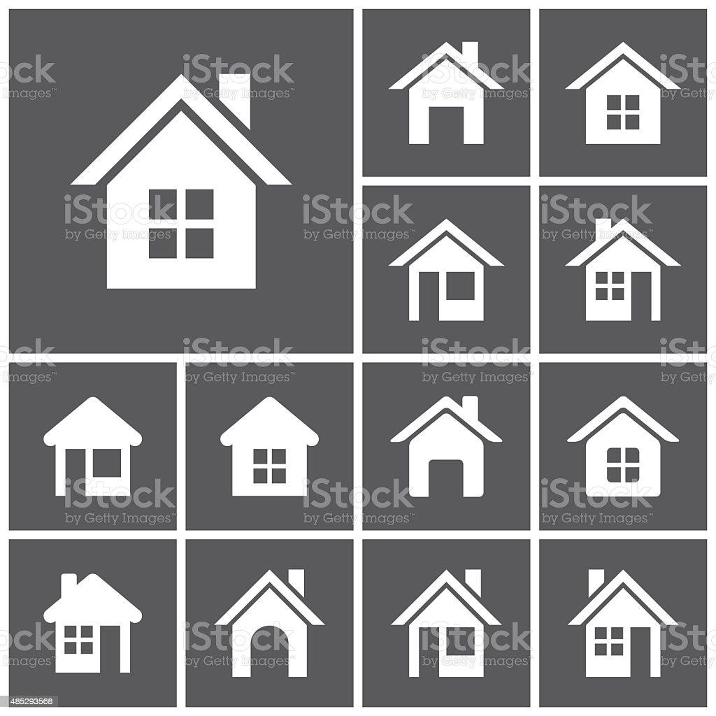 Home button vector art illustration