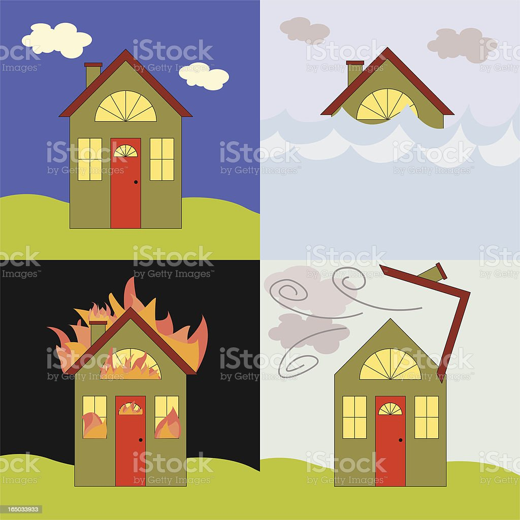 Home Catastrophy royalty-free stock vector art