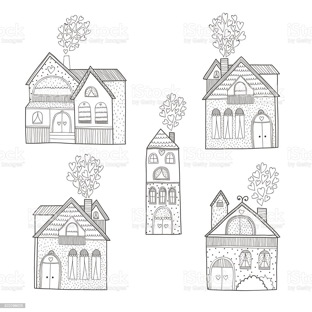 Home collection vector art illustration