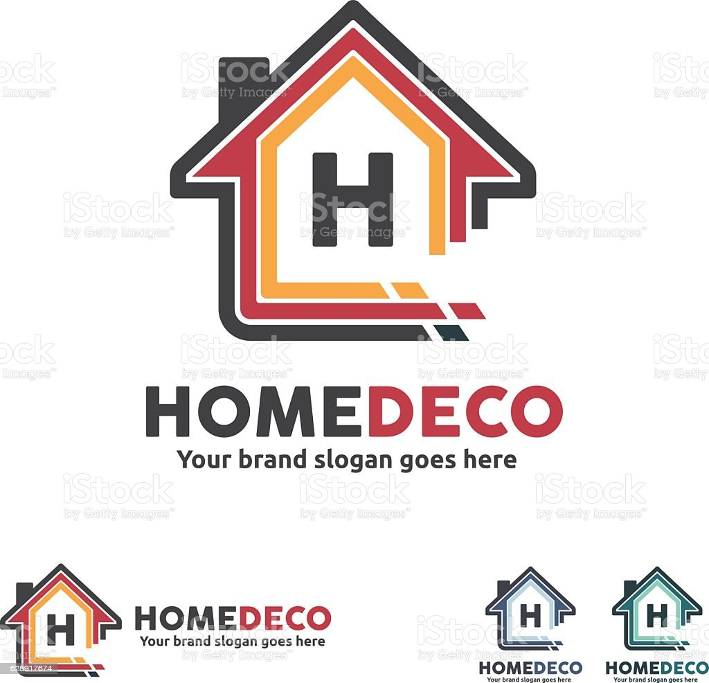 Home Decorate Symbol vector art illustration