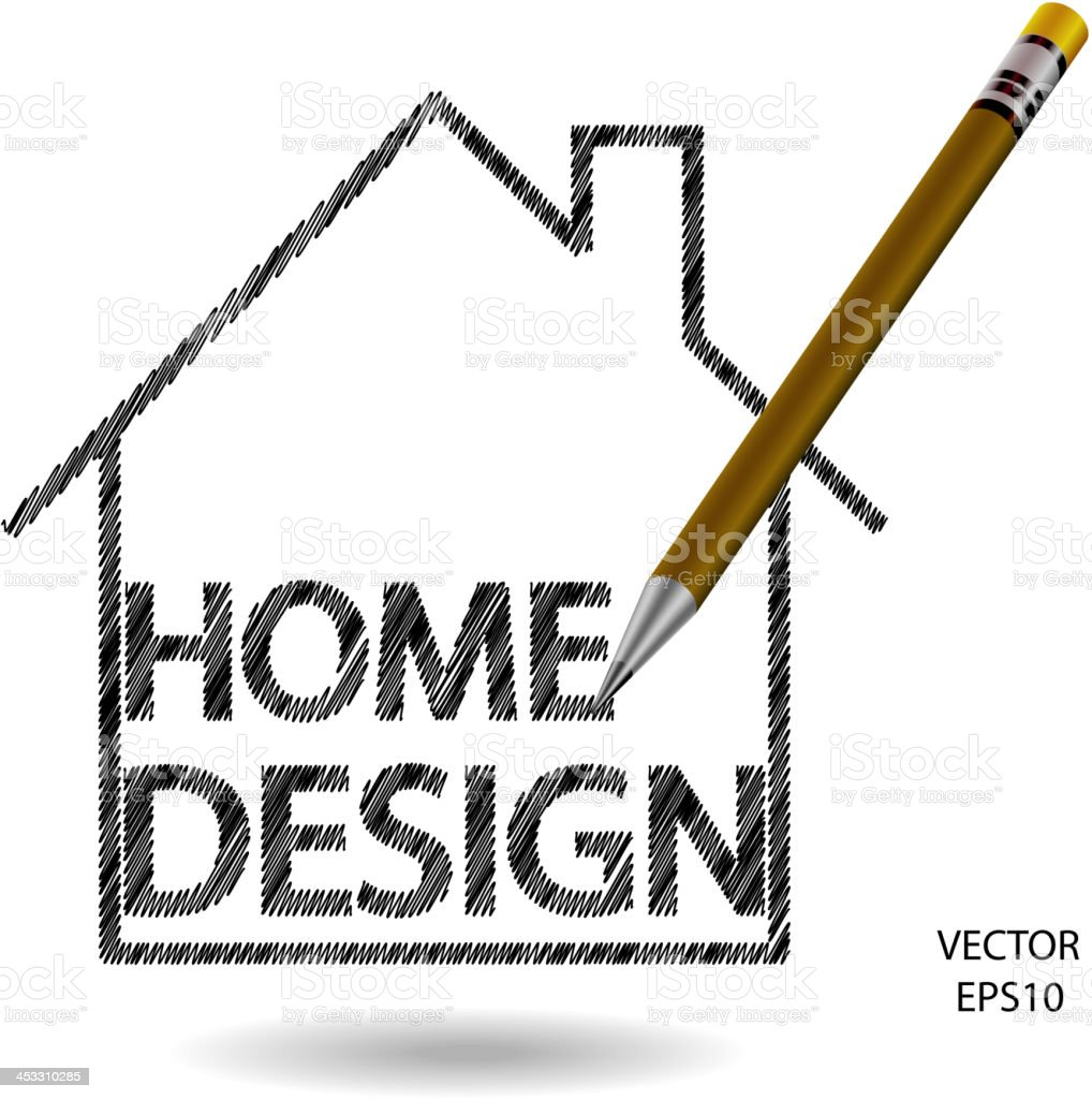 Home Design icon royalty-free stock vector art