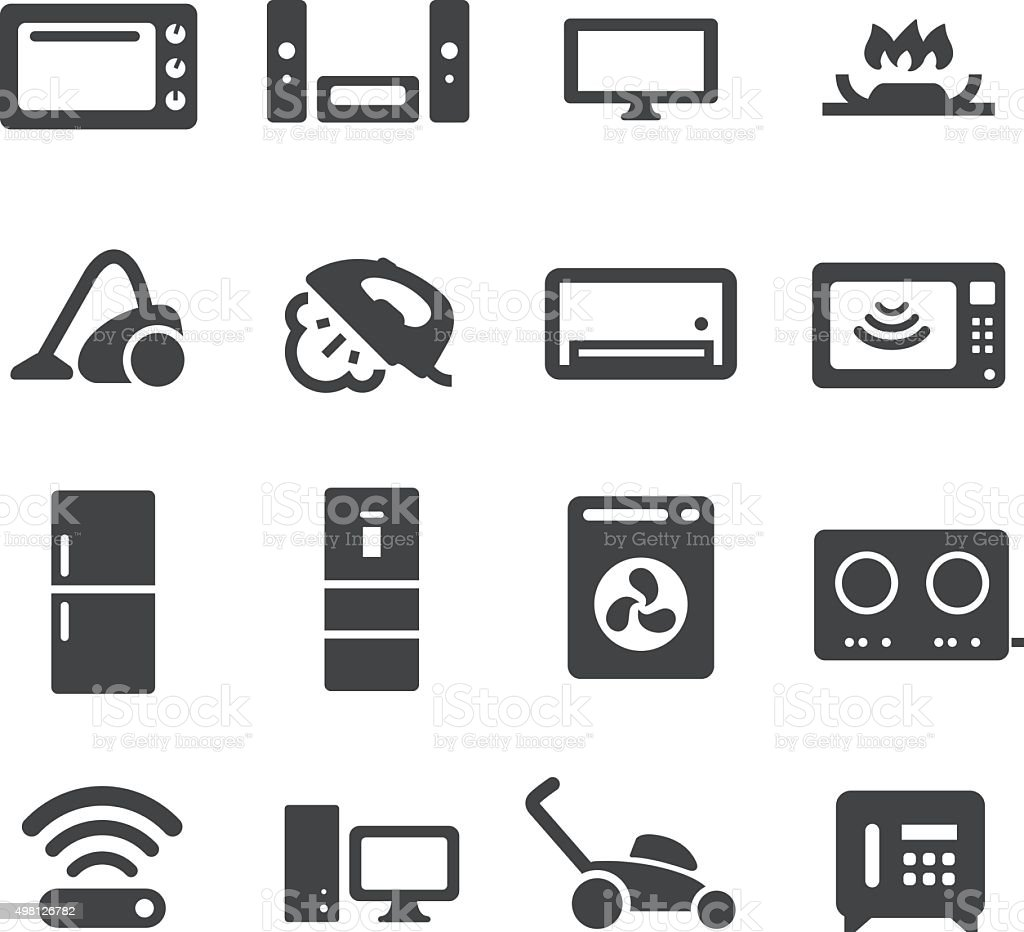 Home Devices Icons - Acme Series vector art illustration