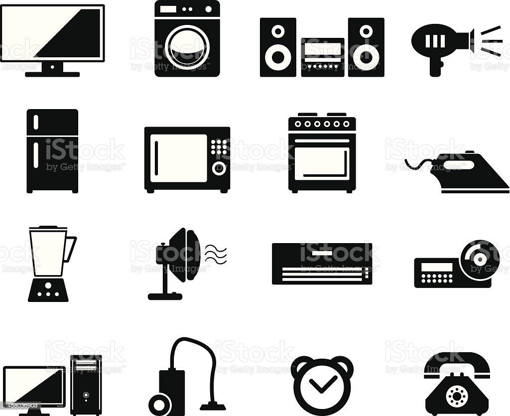 Home Devices vector art illustration