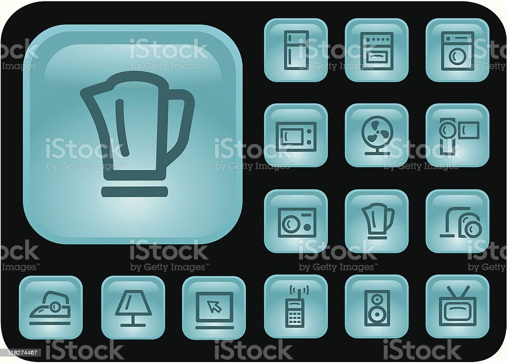 Home electronics buttons royalty-free stock vector art