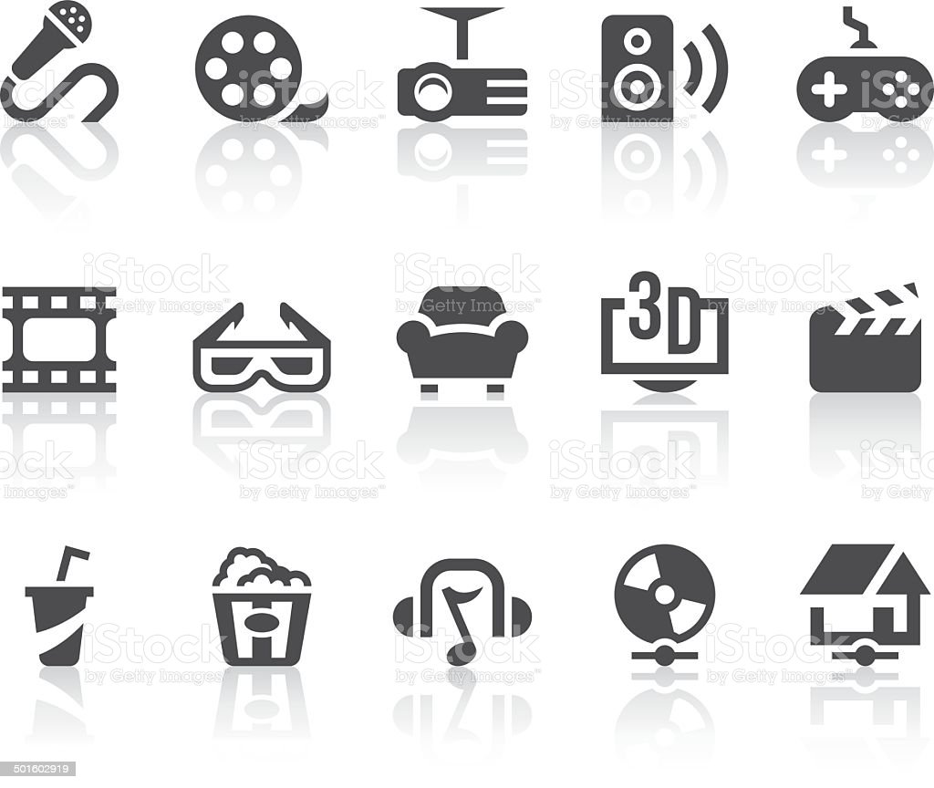 Home Entertainment Icons | Simple Black Series vector art illustration