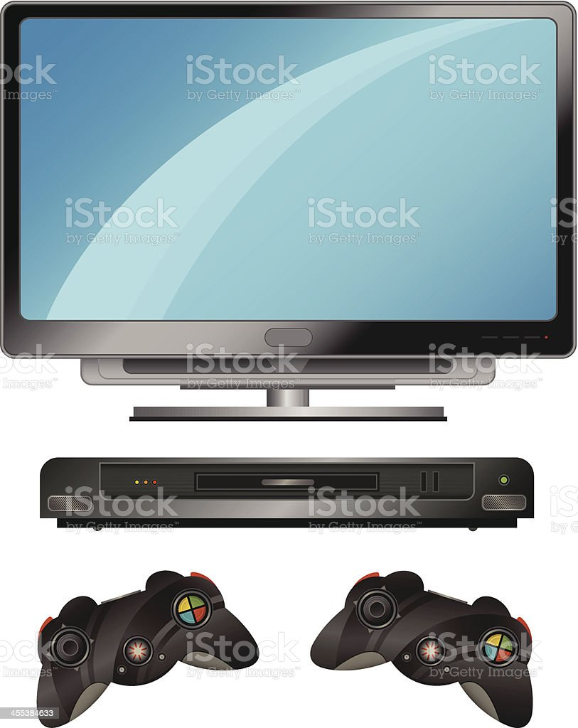 Home Entertainment Set royalty-free stock vector art