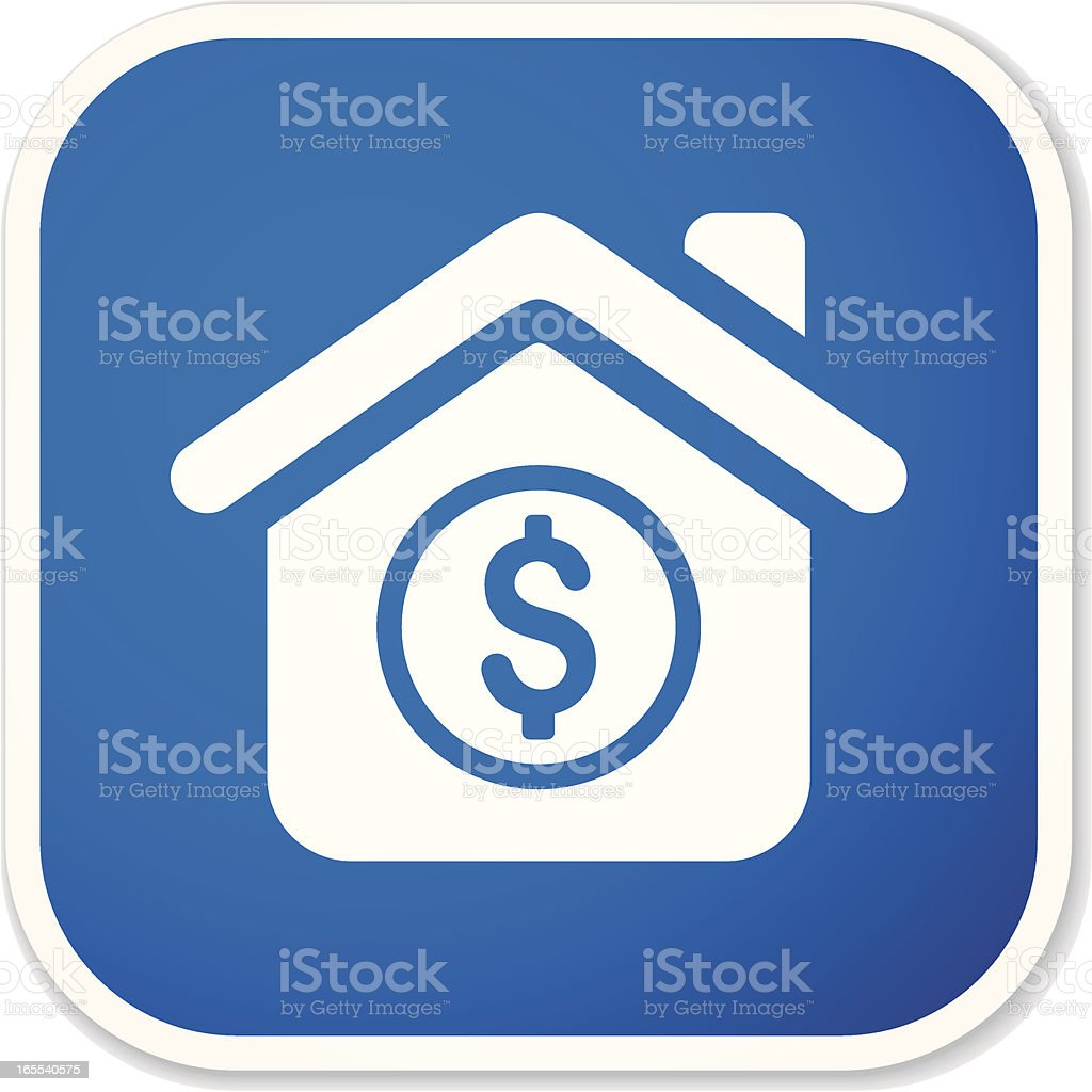 home finance sq sticker royalty-free stock vector art