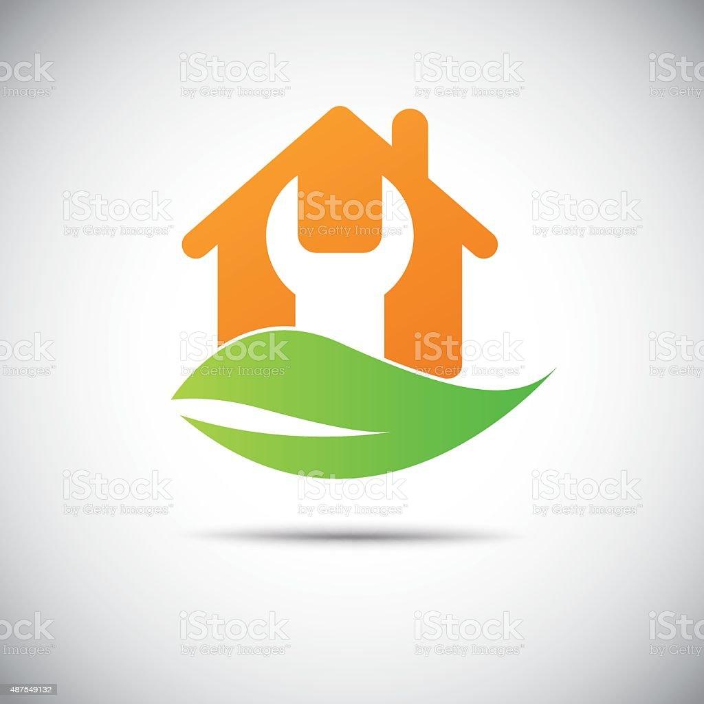 home Fix Real Estate icon vector art illustration