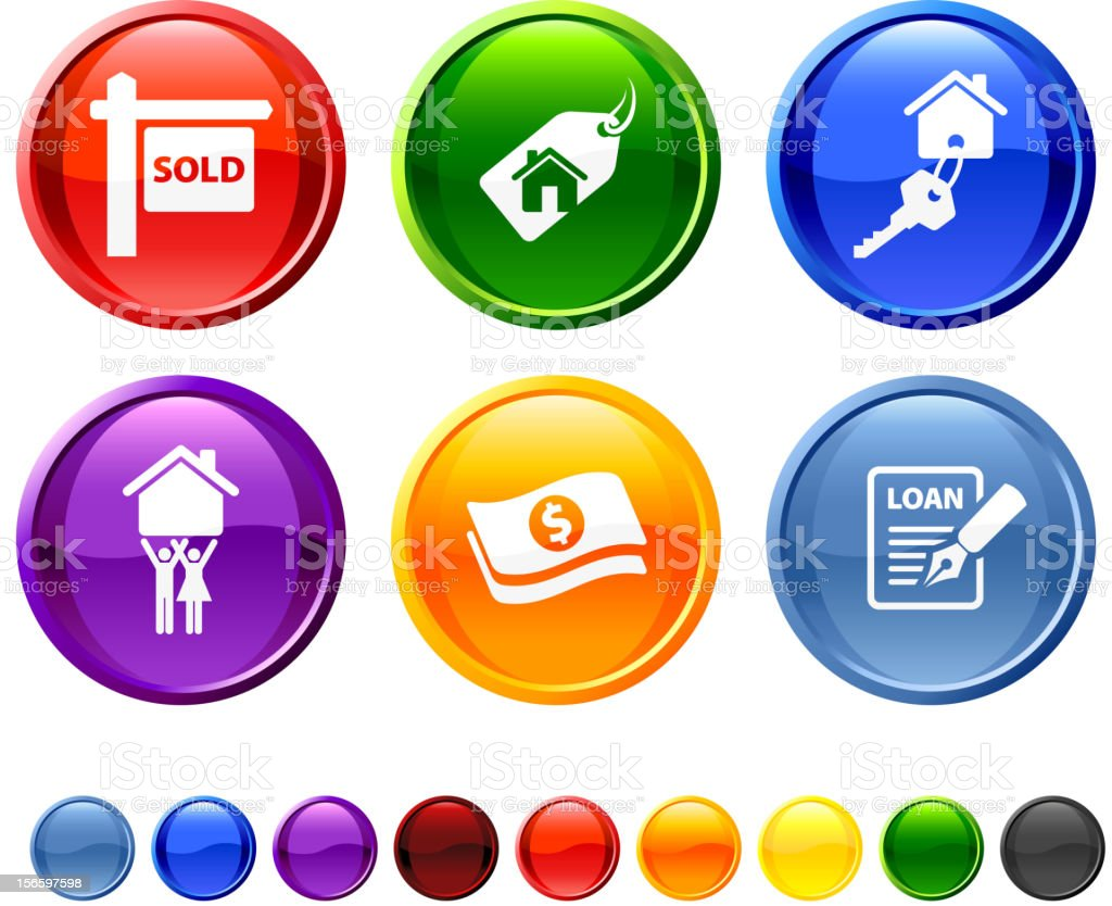 home for sale royalty free vector icon set royalty-free stock vector art