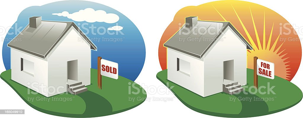 home for sale royalty-free stock vector art