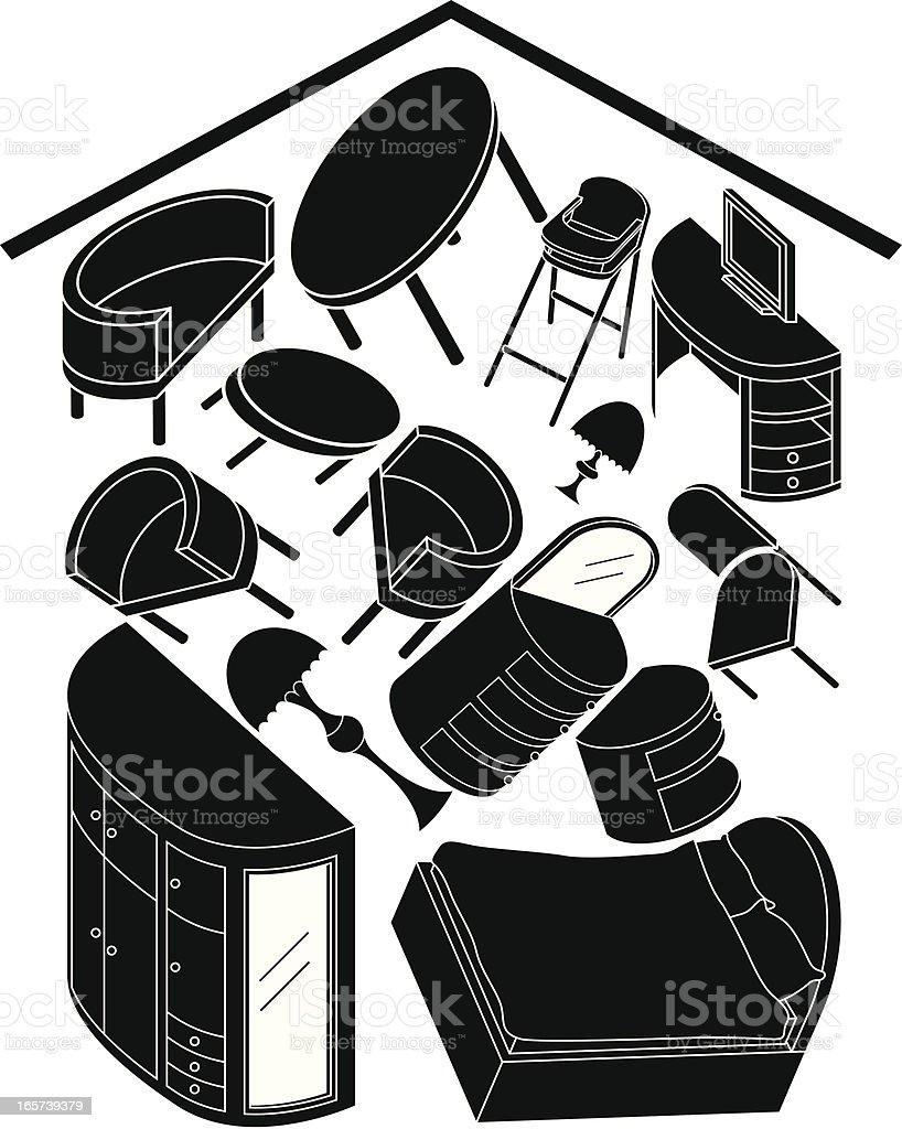 home furnishing royalty-free stock vector art
