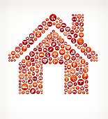 Home Healthcare and Medical Red Button Pattern
