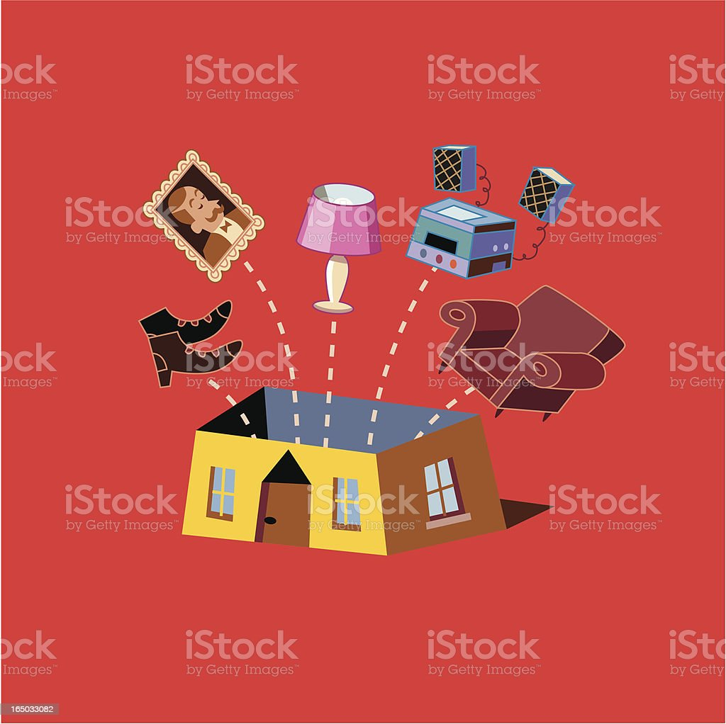 Home / House Contents royalty-free stock vector art