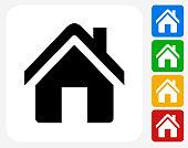 Home Icon Flat Graphic Design