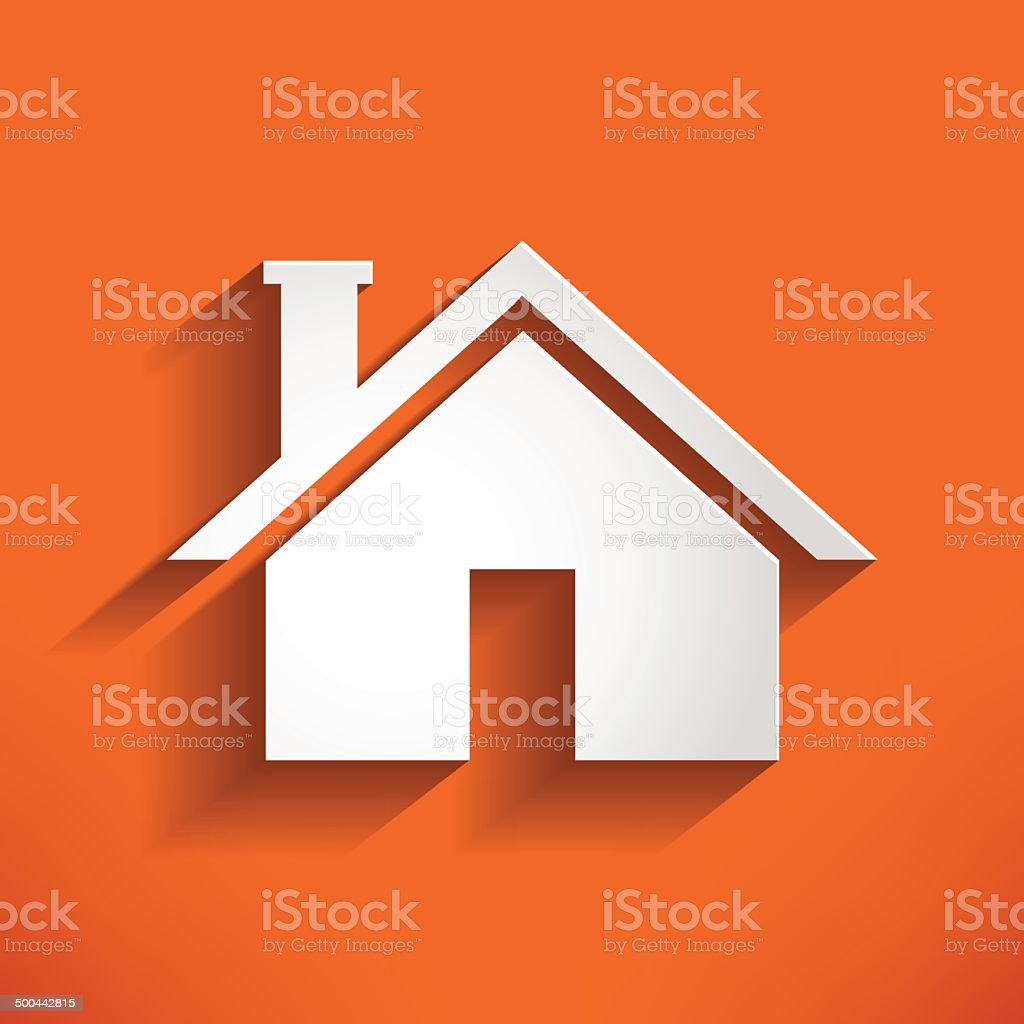 Home Icon on orange backround. house Vector Illustration vector art illustration