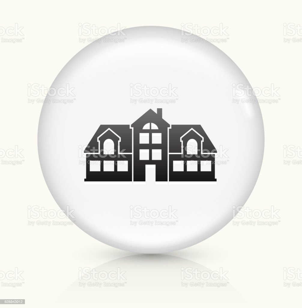Home icon on white round vector button vector art illustration