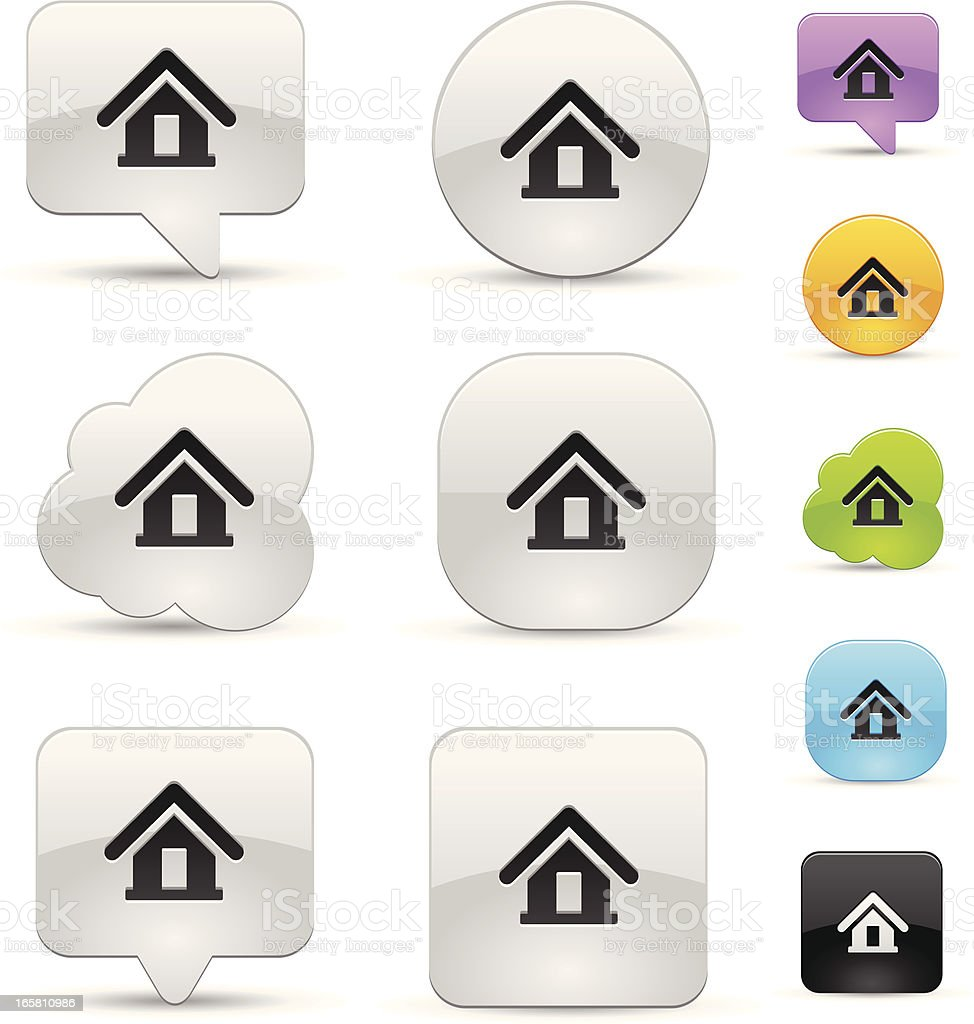 Home icon set royalty-free stock vector art