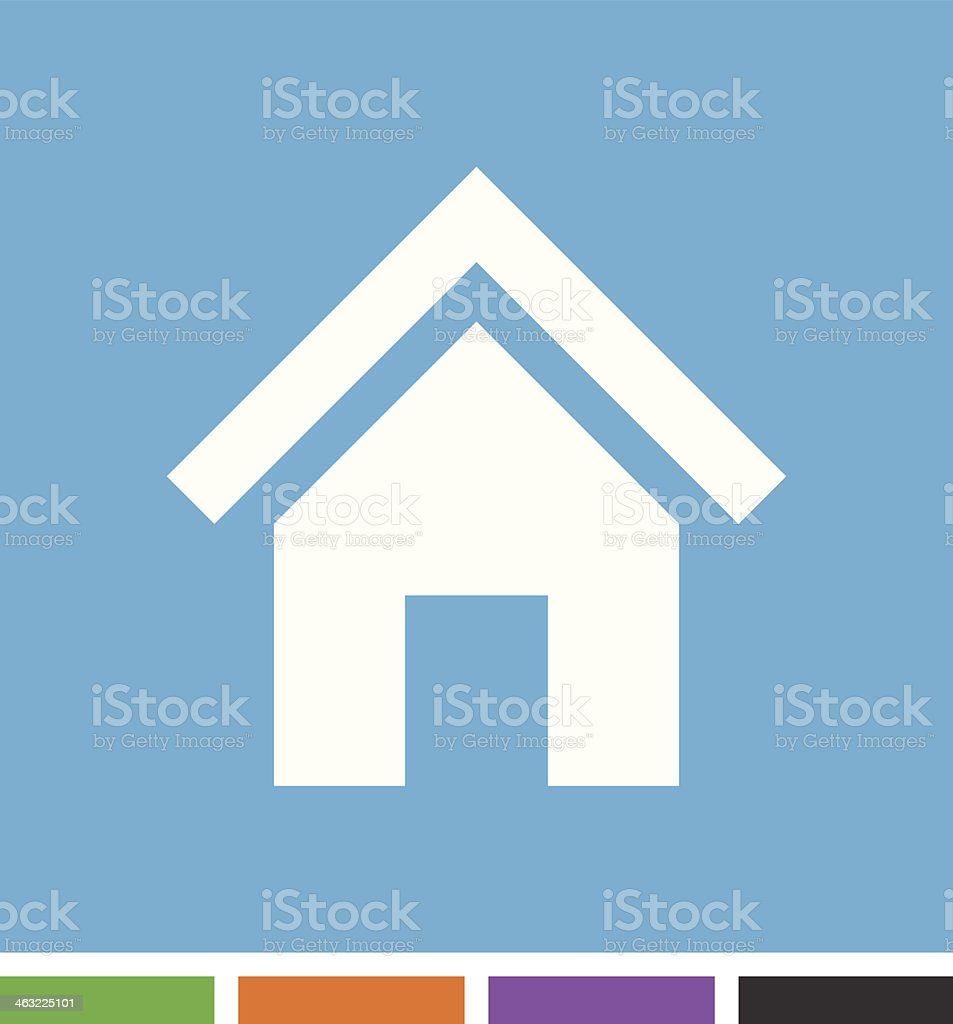Home icon royalty-free stock vector art