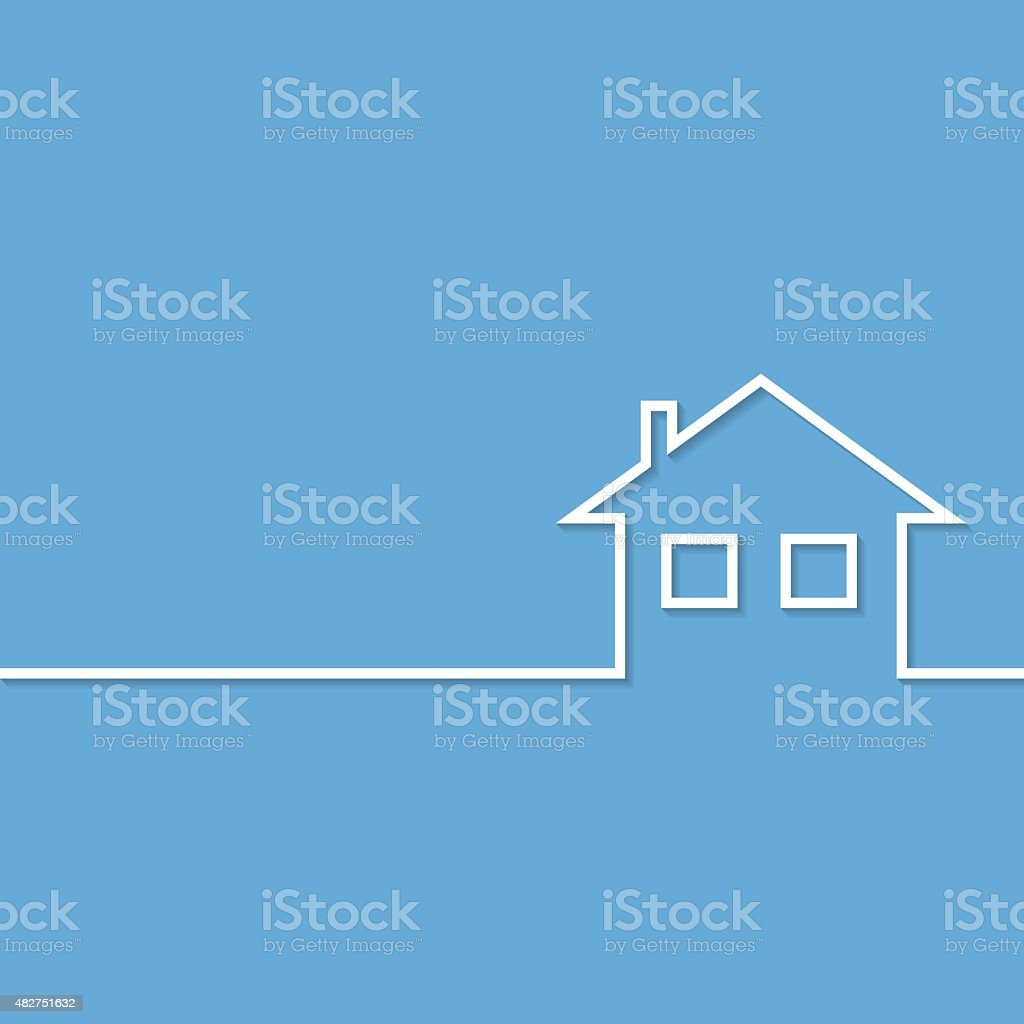Home Icon vector art illustration