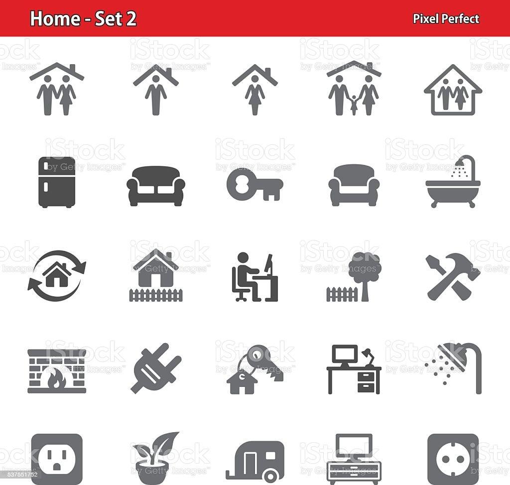 Home Icons - Set 2 vector art illustration