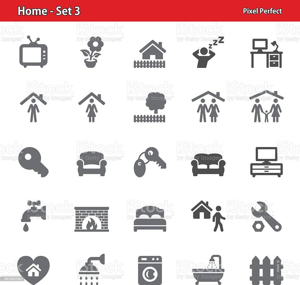 Home Icons - Set 3 vector art illustration
