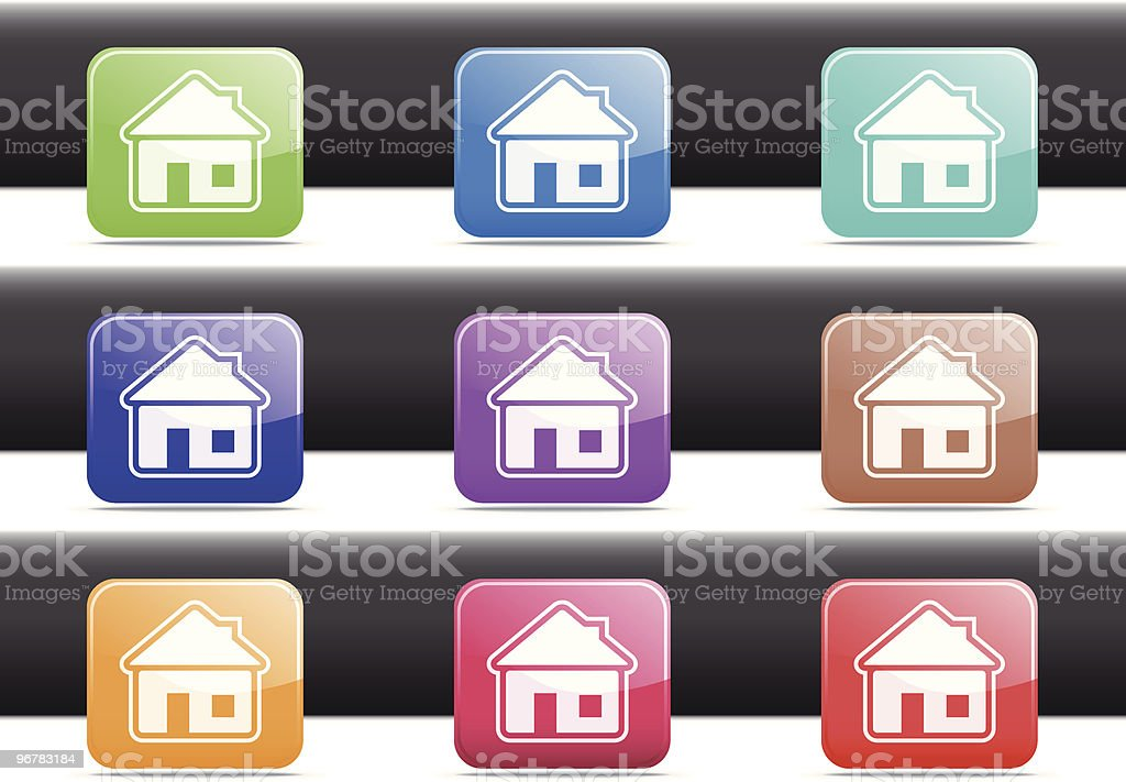Home Icons royalty-free stock vector art