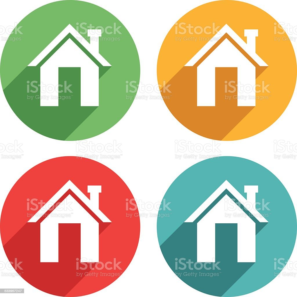 Home icons - VECTOR vector art illustration